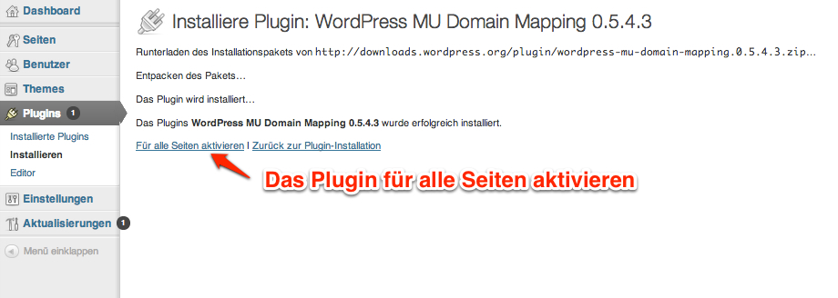 Tutorial: Domain Mapping in Wordpress Multisite einrichten on
