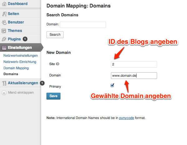 Tutorial: Domain Mapping in Wordpress Multisite einrichten on